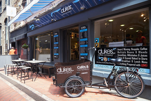 The popular Dukes Coffee Company in the heart of Cork City.