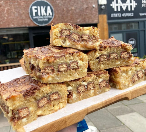 Delicious KitKat Blondies from Fika in Liverpool