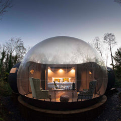 Finn Lough Bubble Domes Glamping in Fermagh, Ireland