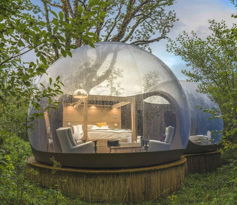 A bubble dome at the Finn Lough luxury camping destination in Co. Fermanagh
