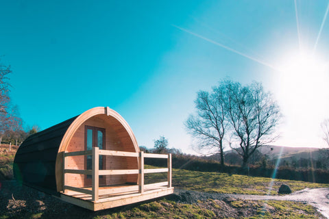 Enjoy the spectacular views in the rolling hills of Glendalough from the comfort of your pod.