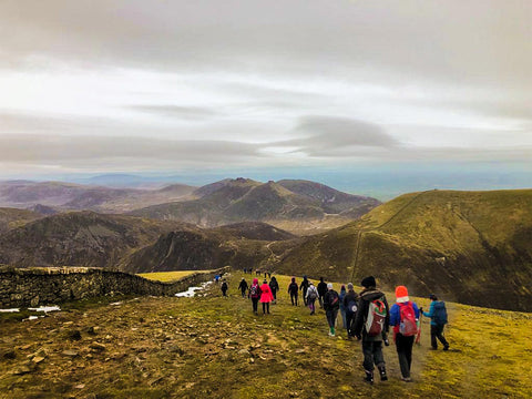 Our View of Mourne Mountain Range from Top of Slieve Donard