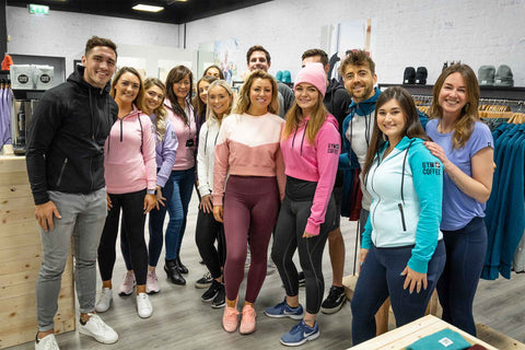 Gym+Coffee Limerick Retail Team with Greg O'Shea on Opening Day October 2019