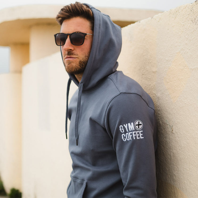 Gym+Coffee Men's Stone Blue Retro Pullover Hoodie