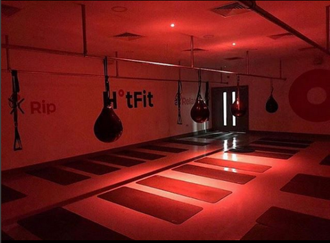 Take part in different hot gym session at the Hot Fit studio in Liverpool
