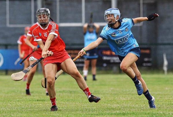 Laura Twomey Dublin GAA Camogie Captain and 20x20 Ambassador Mid-Play