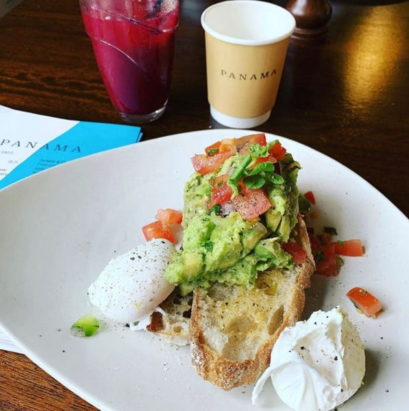 Eggs and Avocado on Sourdough Toast at Panama Café in Belfast
