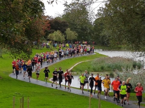 A host of runners Princes parkrun in Liverpool
