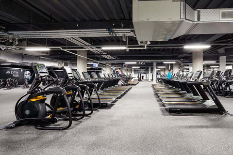 A 24/7 gym with loads of equipment to keep you working up a sweat at PureGym