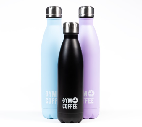 three-stainless-steel-water-bottles-gym-plus-coffee-resuable-bottles