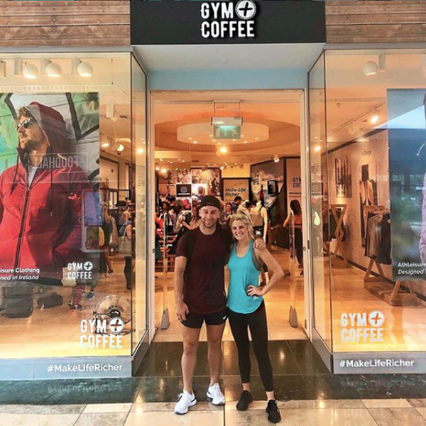 Seany B2B Fitness and Niamh Cullen at Gym+Coffee Store in Dundrum Town Centre