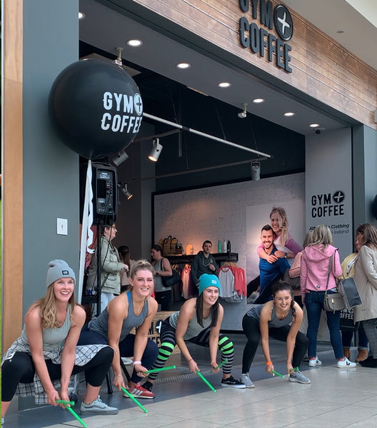 Cork Rebel Ripstix Lead Pound Fitness Class at Gym+Coffee Shop in Cork