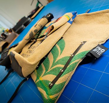 Sustainable Upcycled Burlap Everyday Bags