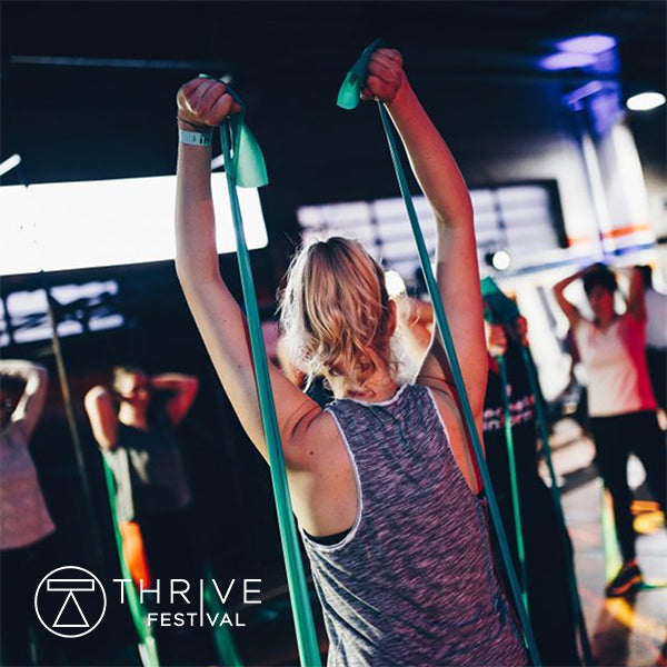Gym+Coffee Clothing Partners at Thrive Festival March 2019