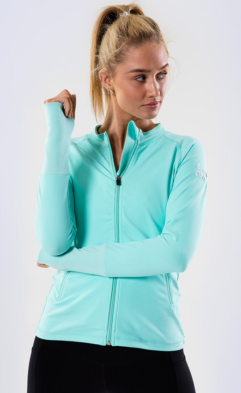 Women's Upside Zip in  in Mint Green