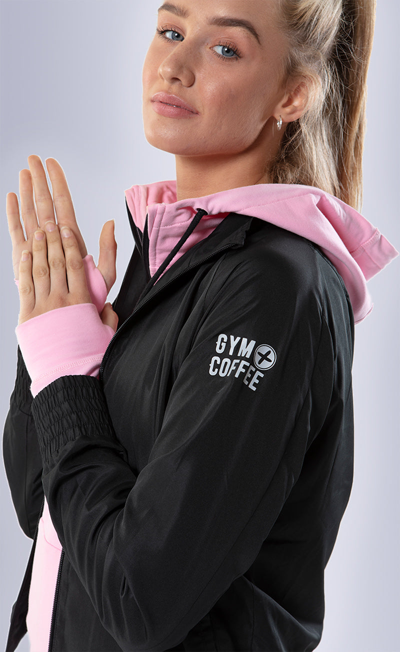 Gym+Coffee Shell Crop Womens Jackets