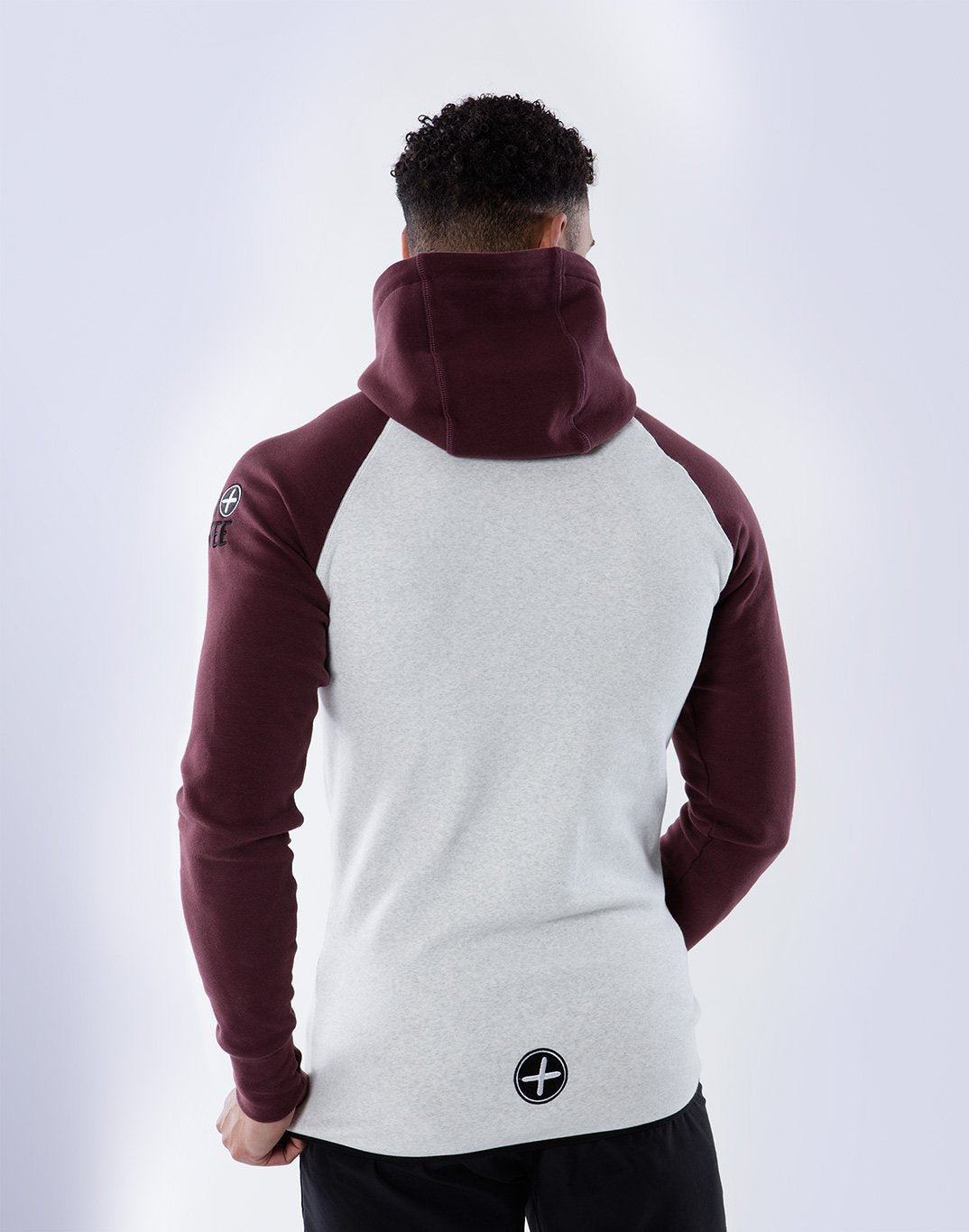 Gym Plus Coffee Hoodie Chill 2Tone Hoodie in Grape/Cream Designed in Ireland