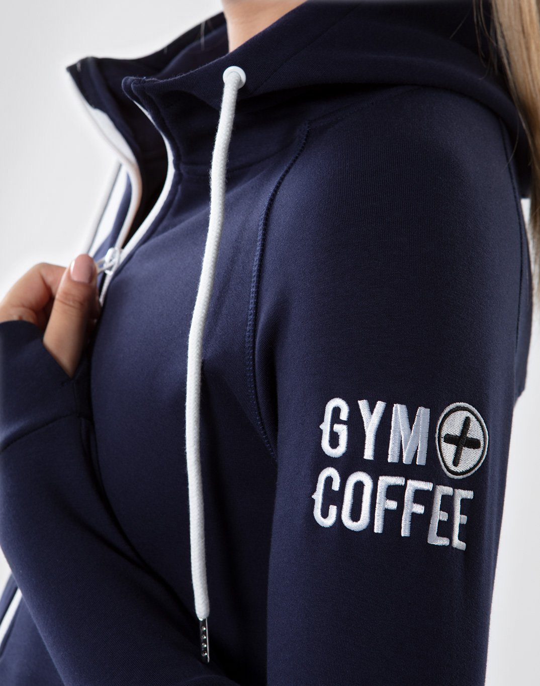 Gym Plus Coffee Hoodie Chill Hoodie in Navy Designed in Ireland