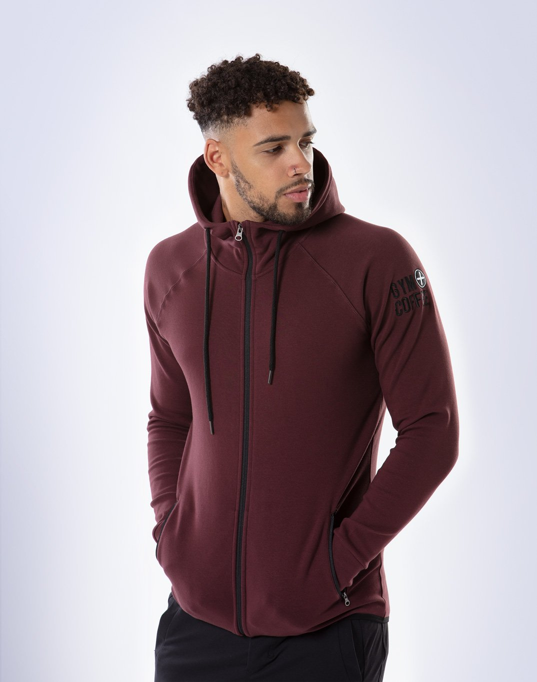 Gym Plus Coffee Hoodie Men's Chill Hoodie in Grape Designed in Ireland
