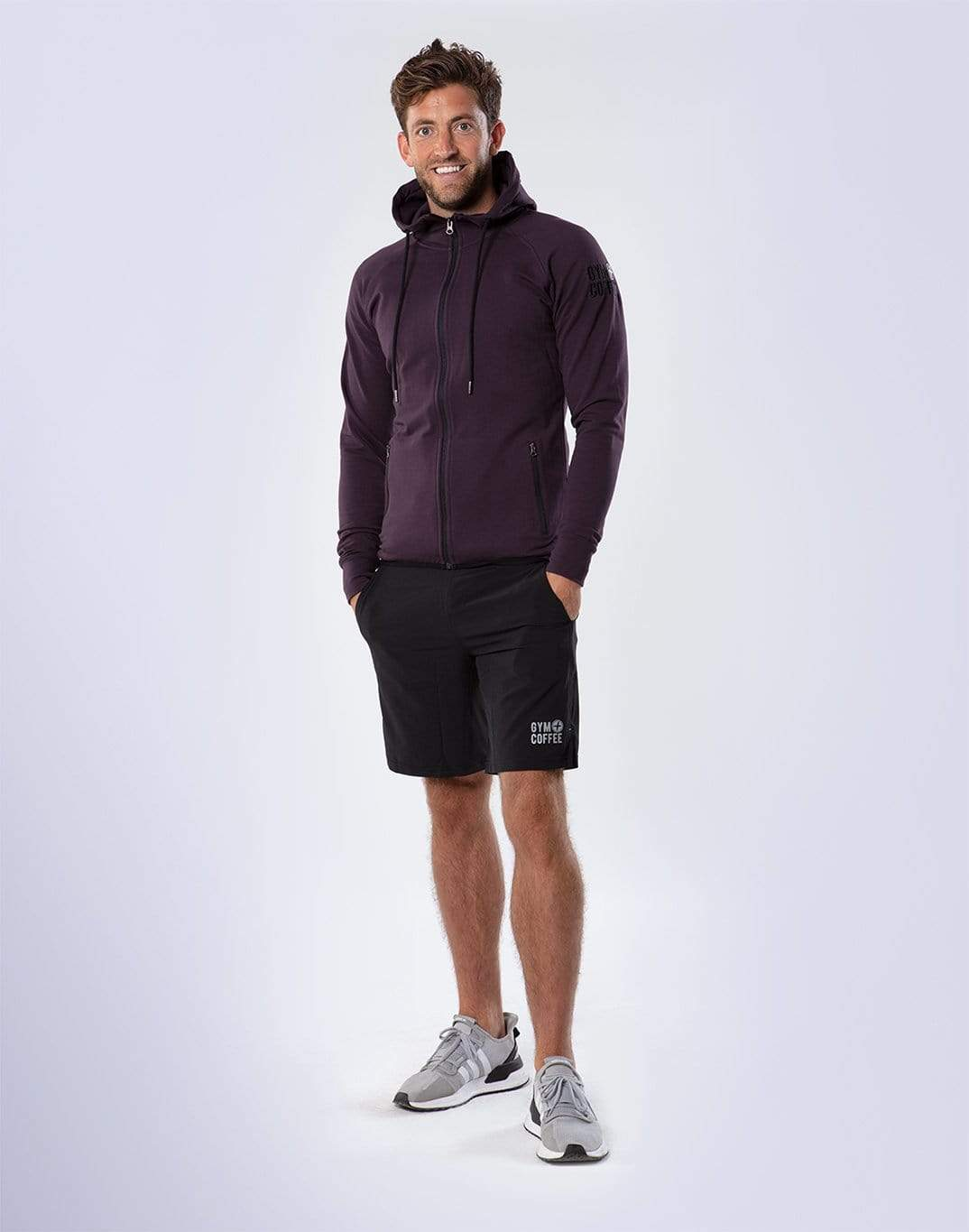 Gym Plus Coffee Hoodie Men's Grape Hoodie Designed in Ireland