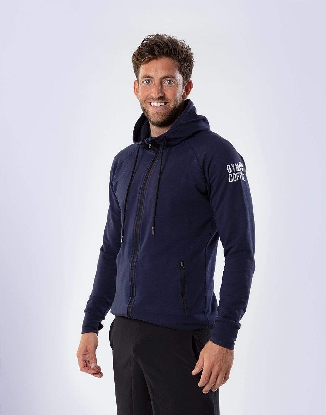 Gym Plus Coffee Hoodie Men's Midnight Navy Hoodie Designed in Ireland