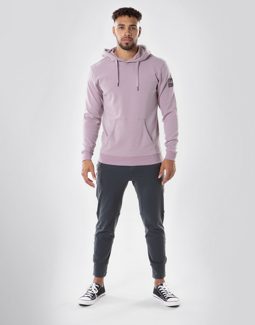 Gym Plus Coffee Hoodie Pullover Hoodie in Mauve Designed in Ireland