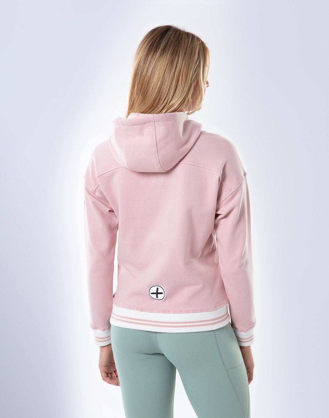 Gym Plus Coffee Hoodie Women's Retro Pullover Hoodie in Dusty Pink Designed in Ireland