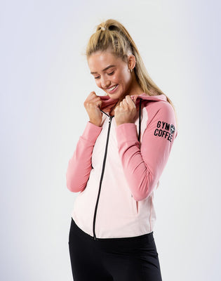 Women's Two-Tone Hoodie in Blush-Pink