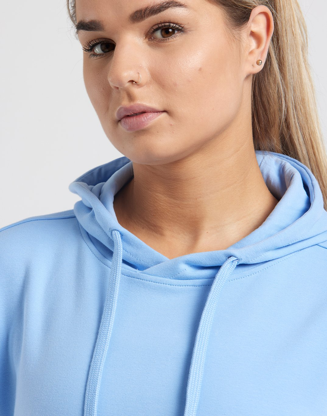 Gym Plus Coffee Hoodie Womens Chill Pullover in Powder Blue Designed in Ireland