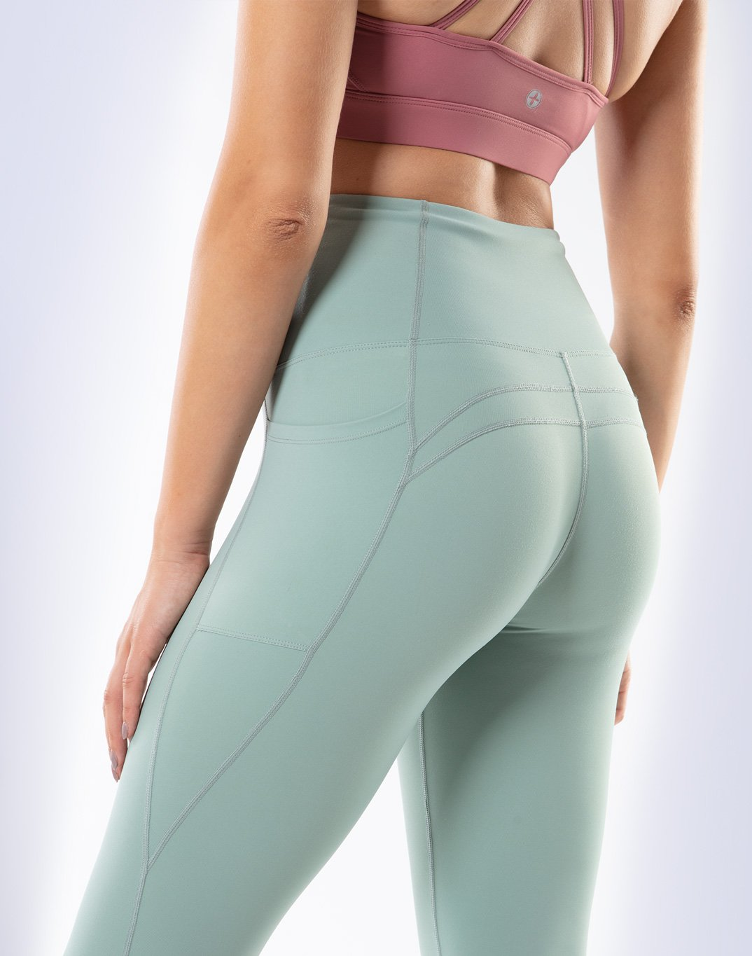 Gym Plus Coffee Leggings Swift High-Rise Legging in Green Designed in Ireland