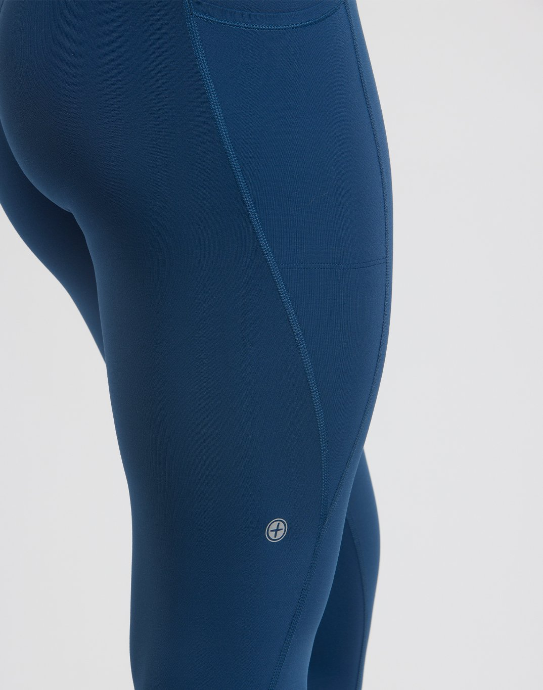 Gym Plus Coffee Leggings Womens All-In Leggings in Petrol Blue Designed in Ireland