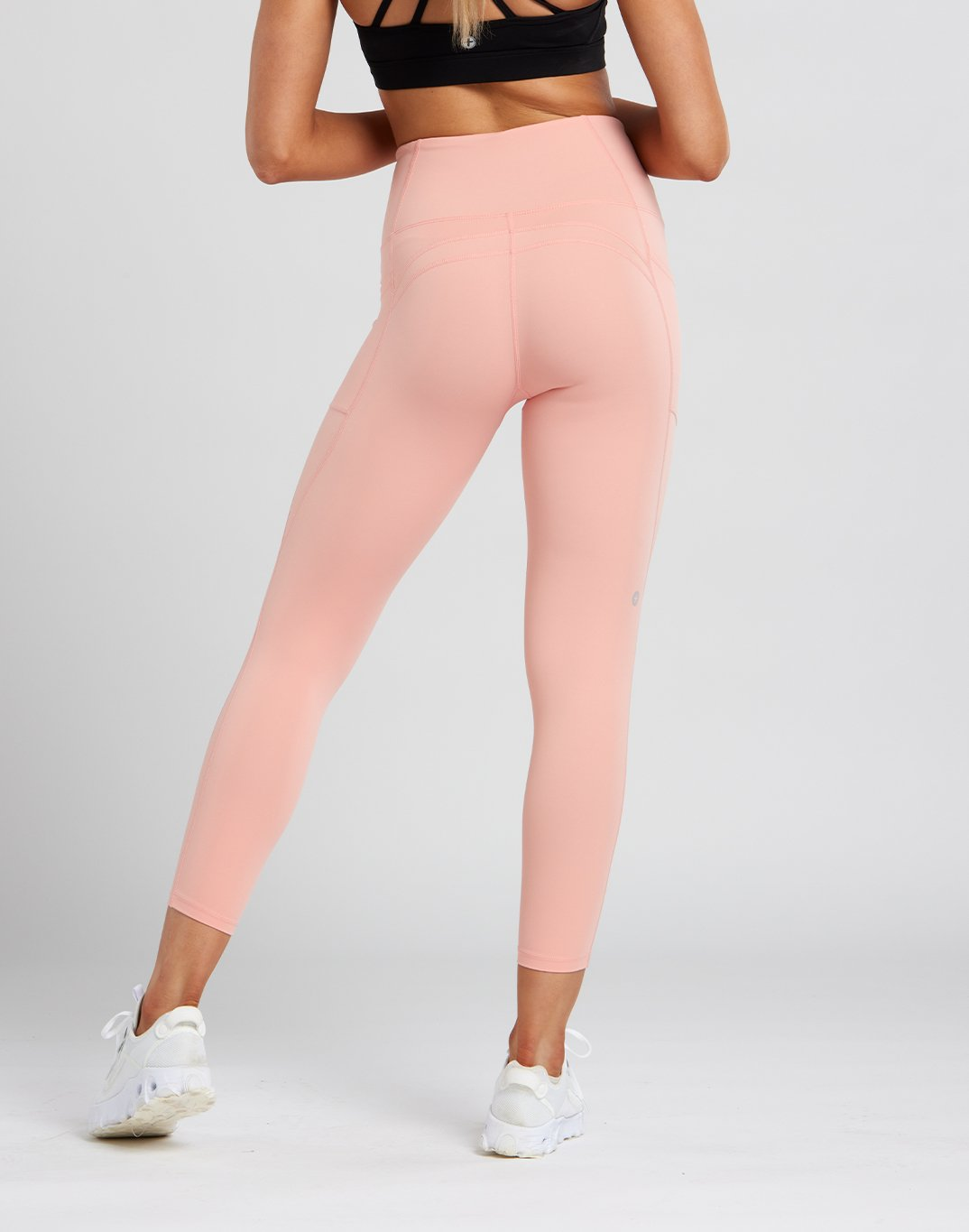 Gym Plus Coffee Leggings Womens Swift High-Rise Legging in Soft Coral Designed in Ireland