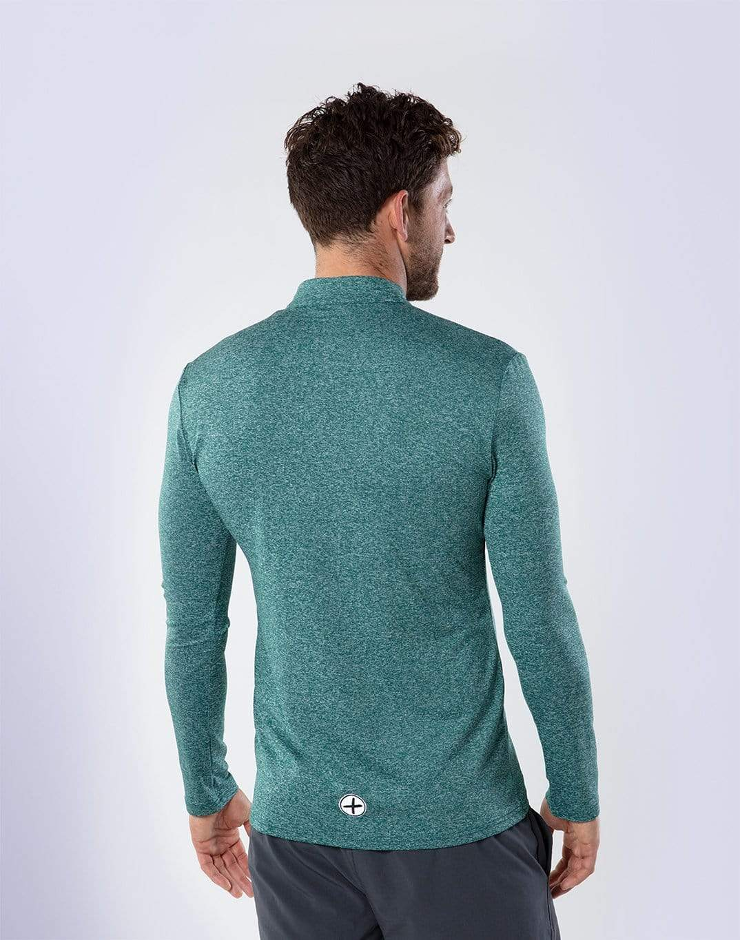 Gym Plus Coffee Long Sleeve Men's Green Long Sleeve Zip Designed in Ireland