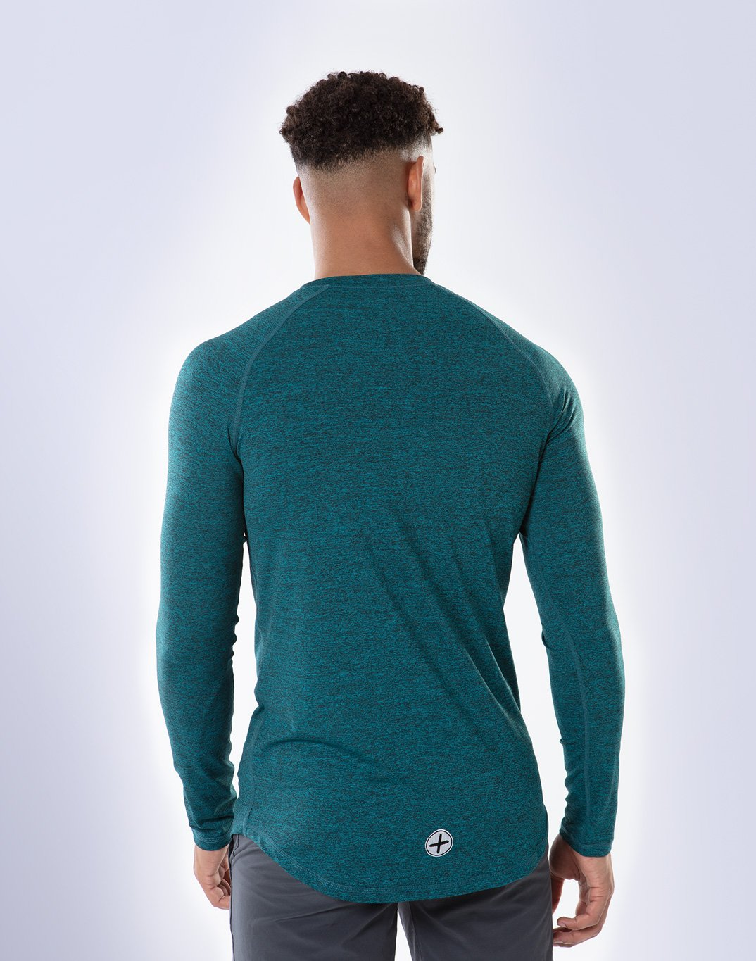 Gym Plus Coffee Long Sleeve Raglan Tech Long Sleeve in Teal Designed in Ireland