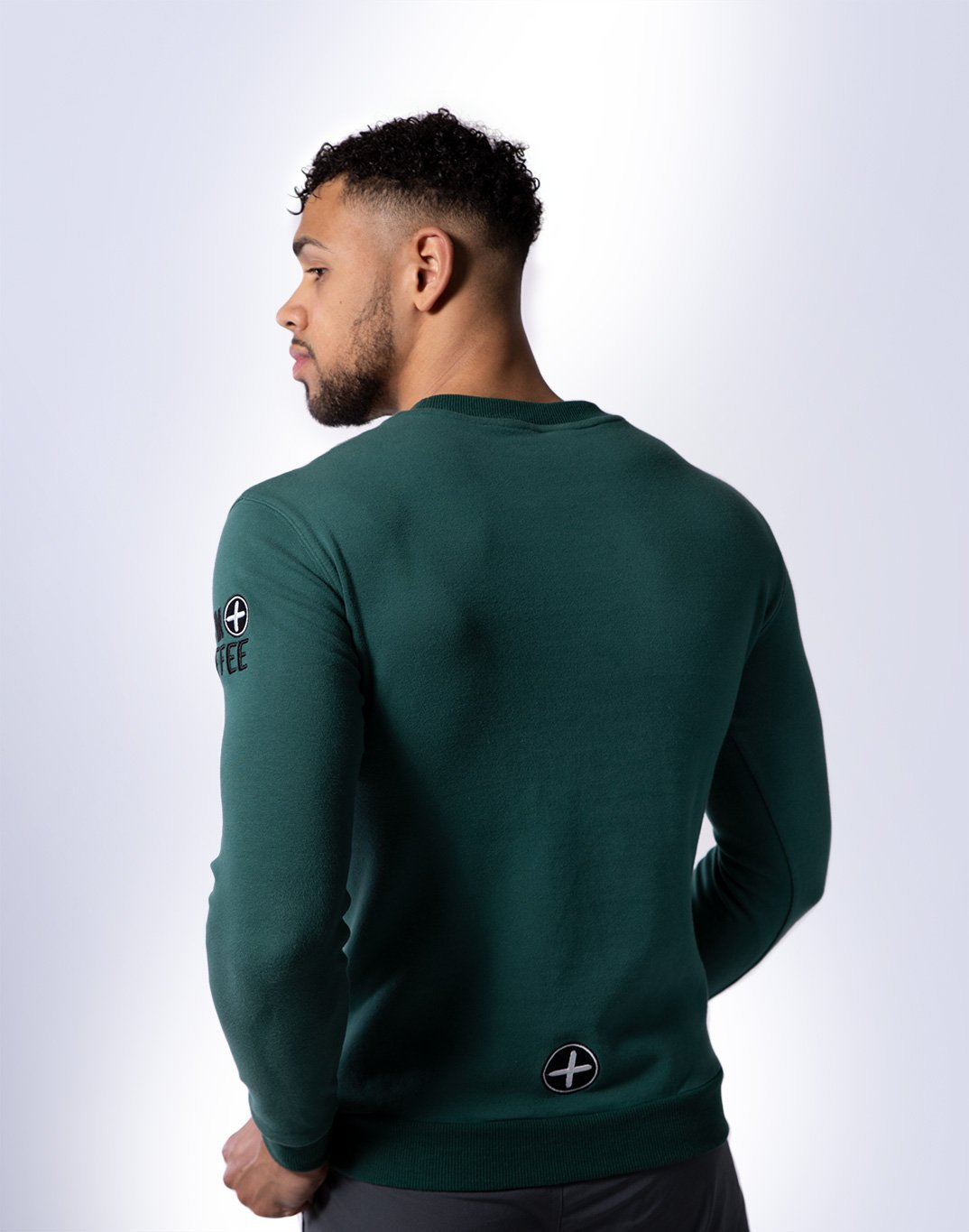 Gym Plus Coffee Long Sleeve UniCrew in Hunter Green Designed in Ireland