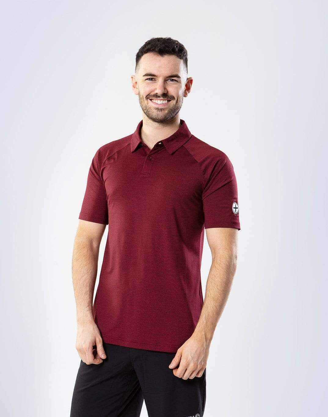 Gym Plus Coffee Men's T-Shirt Men's Red Marco Polo Designed in Ireland