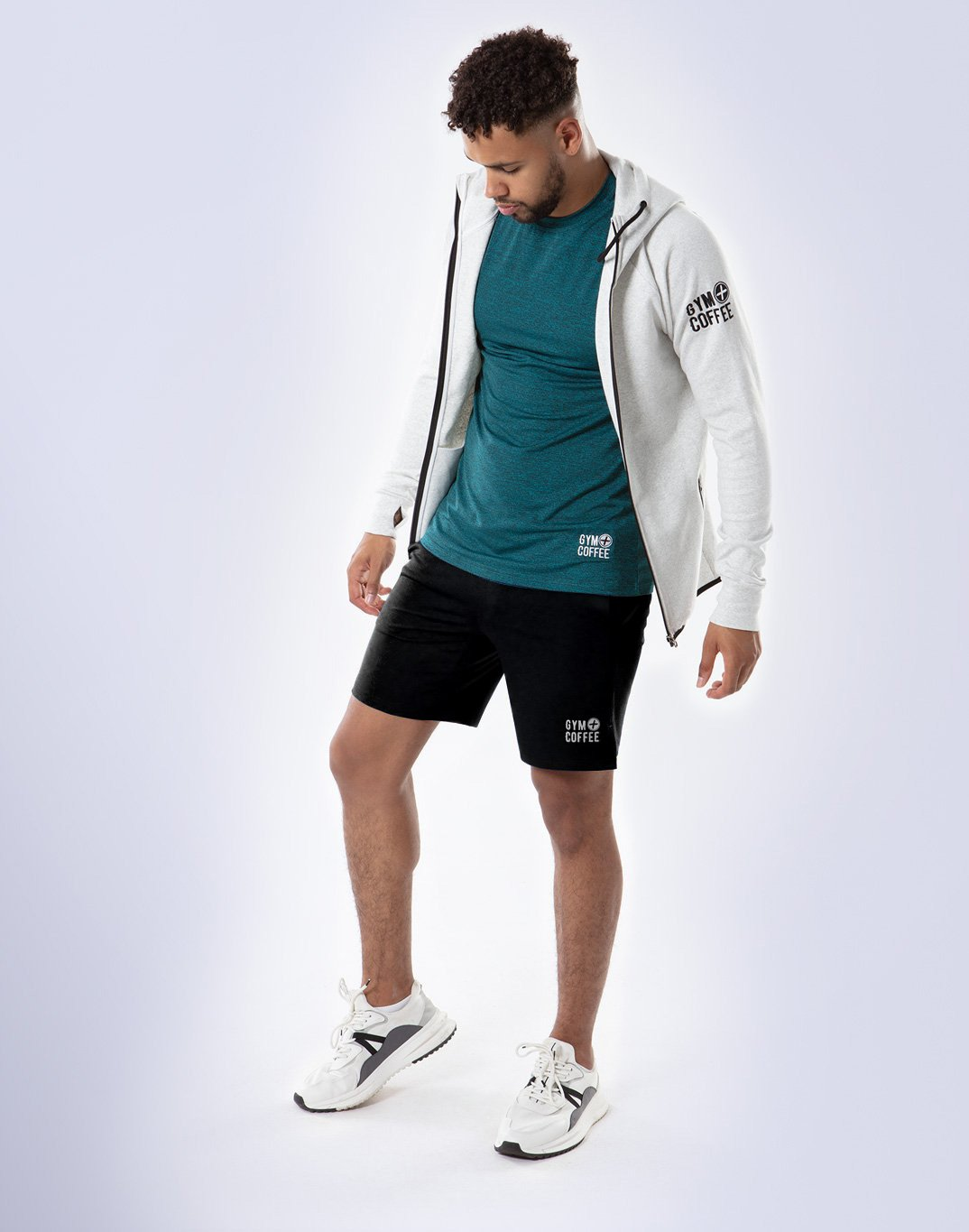 Gym Plus Coffee Shorts Baseline Court Shorts in Black Designed in Ireland