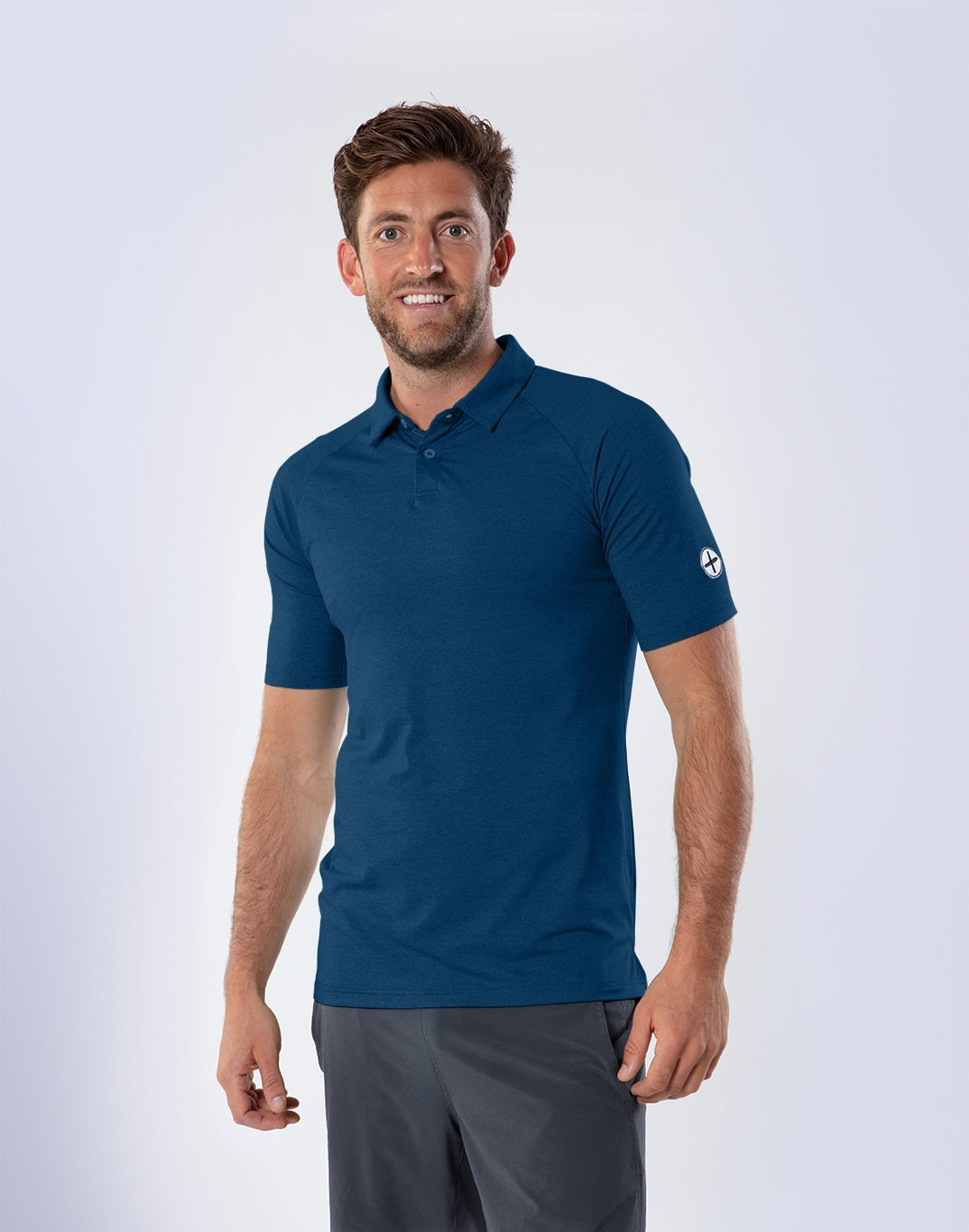 Gym Plus Coffee T-Shirt Men's Navy Marco Polo Designed in Ireland