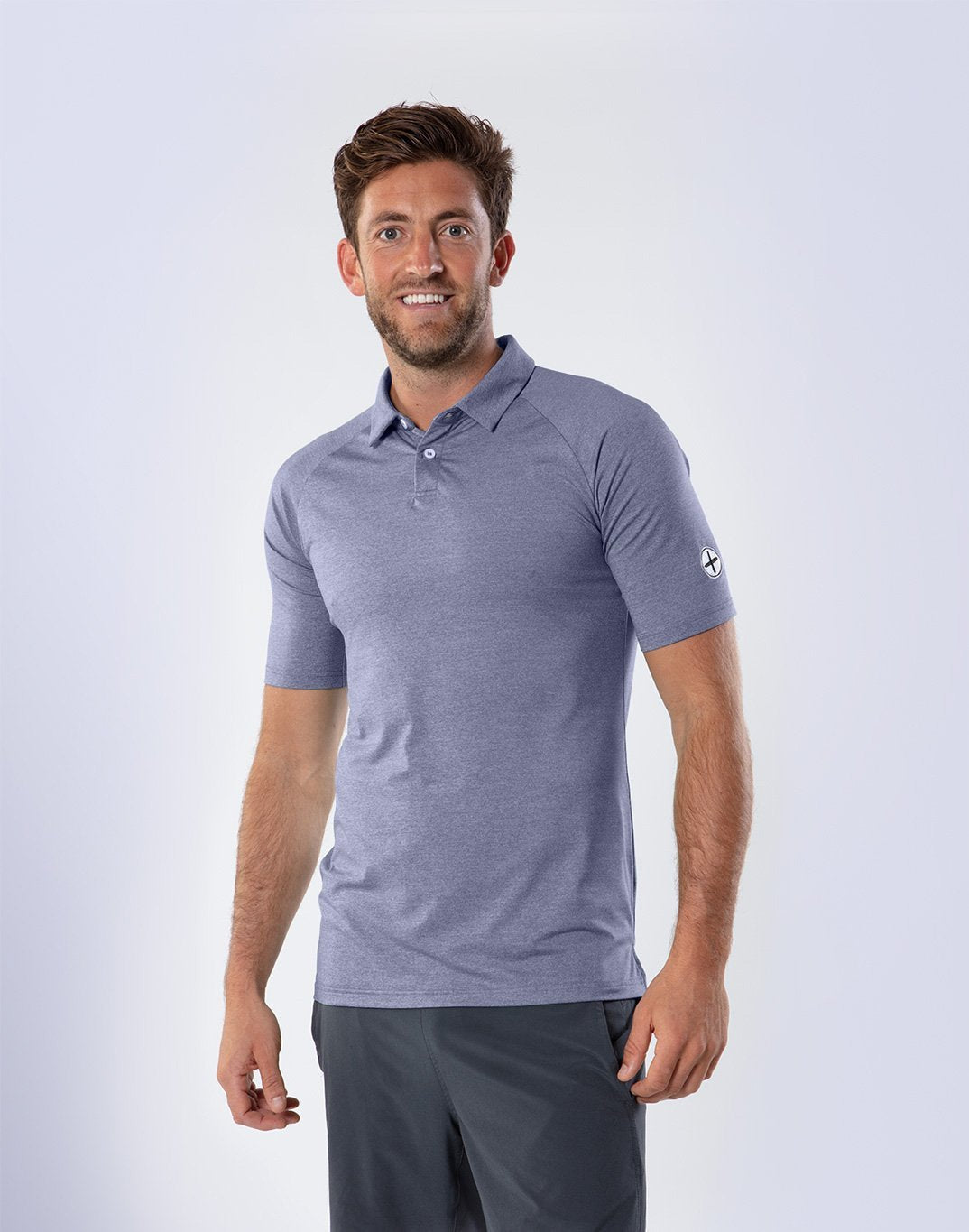 Gym Plus Coffee T-Shirt Men's Titanium Marco Polo Designed in Ireland