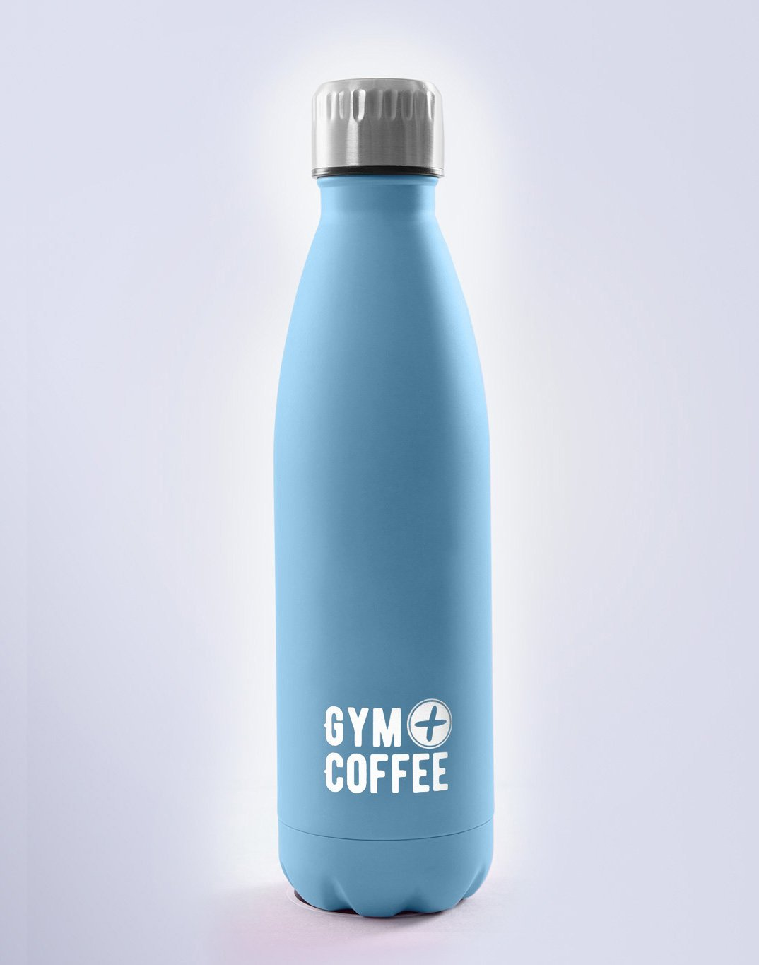 Gym Plus Coffee Water Bottles Blue Stainless Steel Waterbottle Designed in Ireland