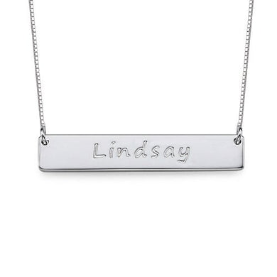 Engraved Bar Necklace (
