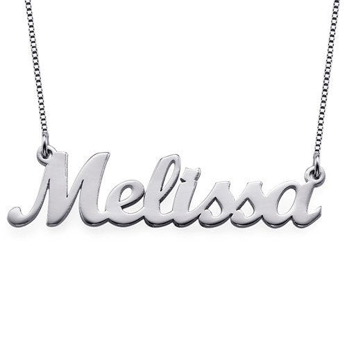 Script Style Name Necklace