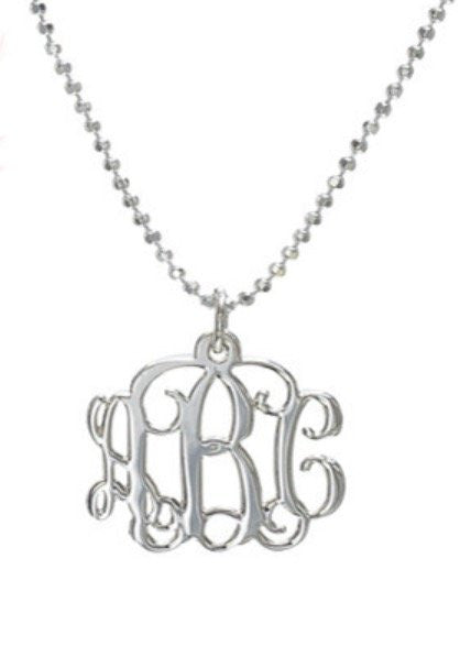 Monogram Necklace - Smaller Version