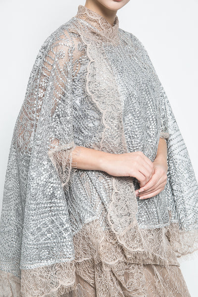 MYVB Atelier New Zoë Sequin Cape-Effect in Grey