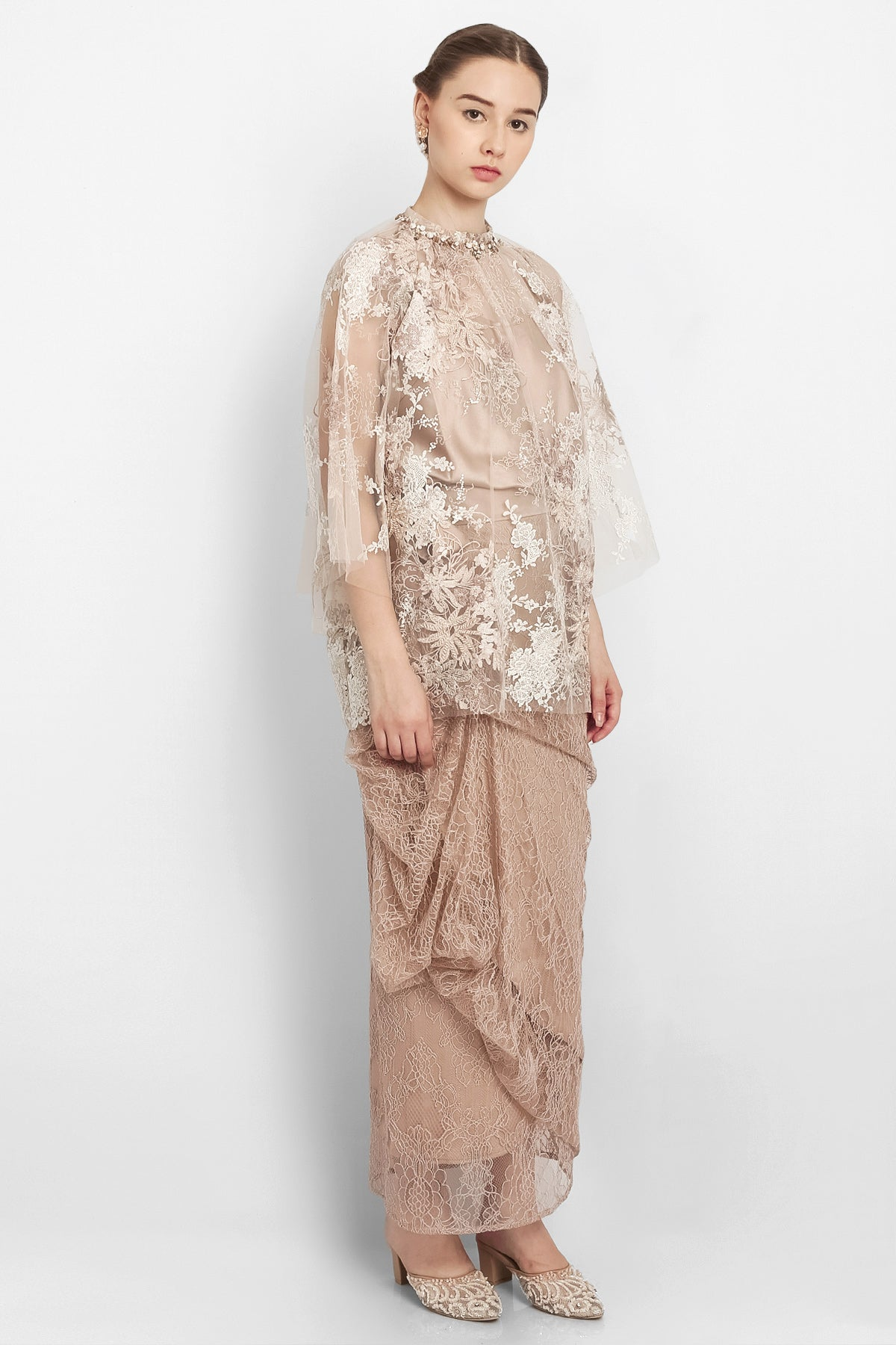 Étienne Layered Top in Nude