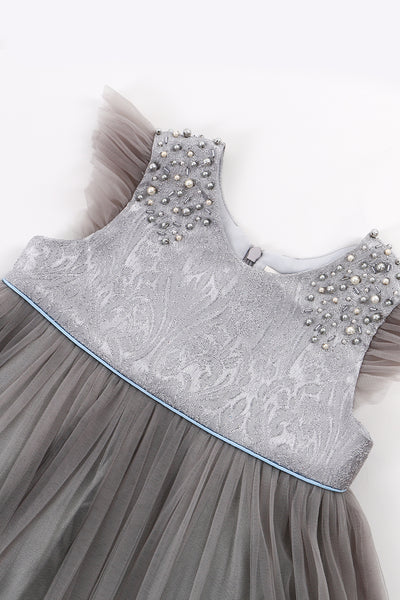 The Kaia Co Mandy Dress in Grey