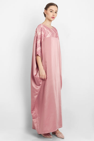 Zahiya Kaftan in Dusty Pink