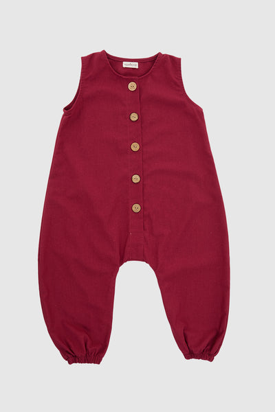 Semesta Playsuit in Wine
