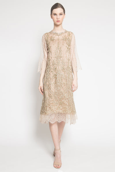 Cara Dress in Gold