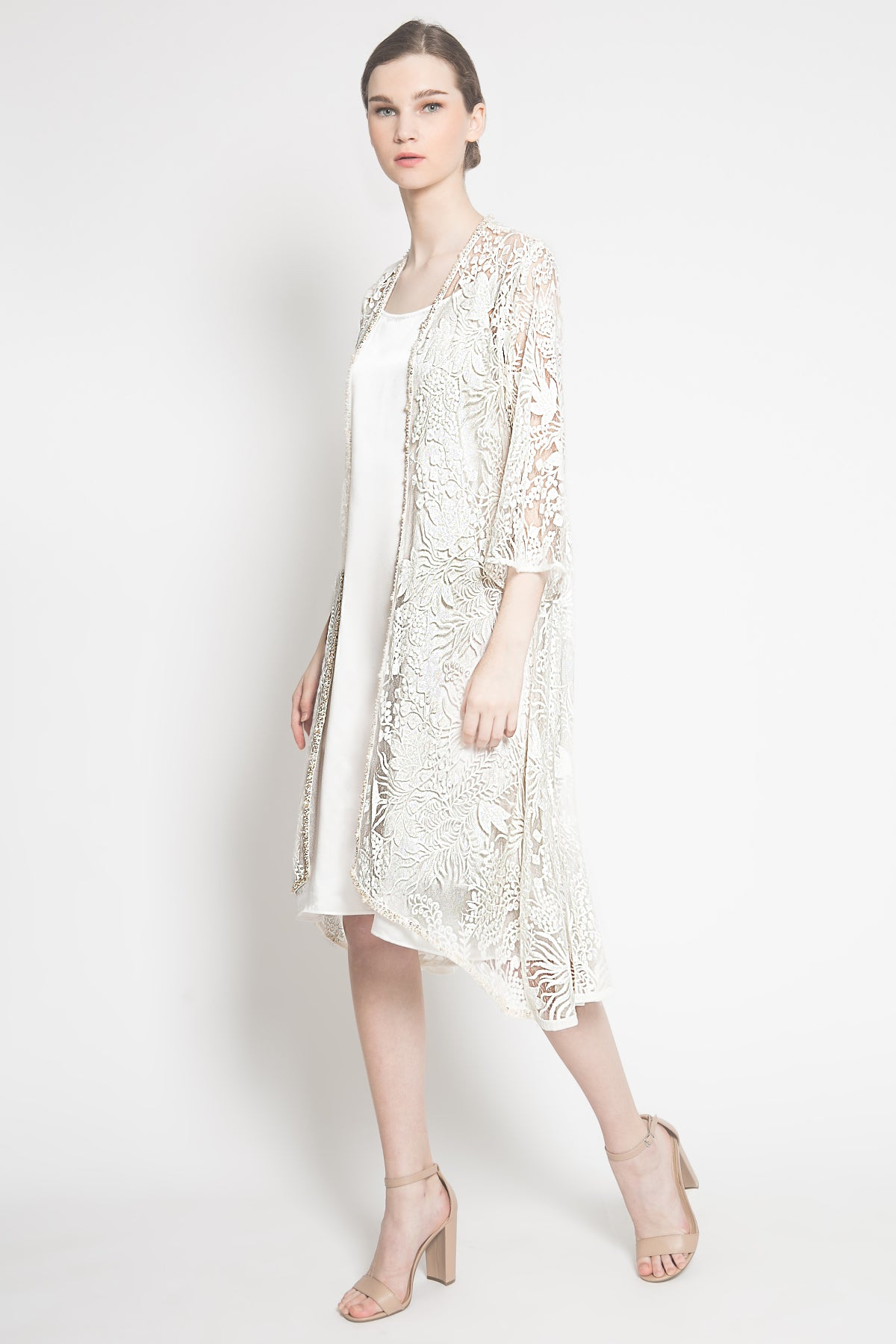 Ivy Outer Dress in White
